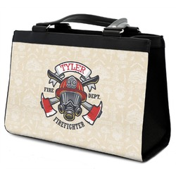 Firefighter Classic Tote Purse w/ Leather Trim (Personalized)