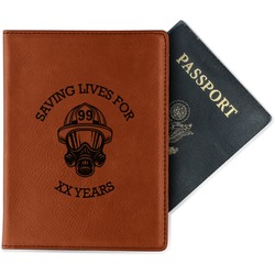 Firefighter Leatherette Passport Holder (Personalized)