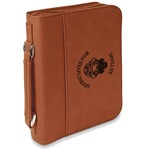 Firefighter Leatherette Book / Bible Cover with Handle & Zipper (Personalized)