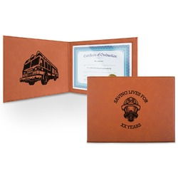 Firefighter Leatherette Certificate Holder (Personalized)