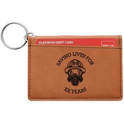 Firefighter Leatherette Keychain ID Holder (Personalized)