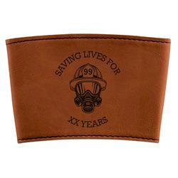 Firefighter Leatherette Mug Sleeve (Personalized)