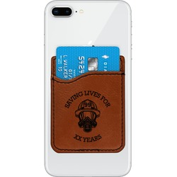 Firefighter Leatherette Phone Wallet (Personalized)