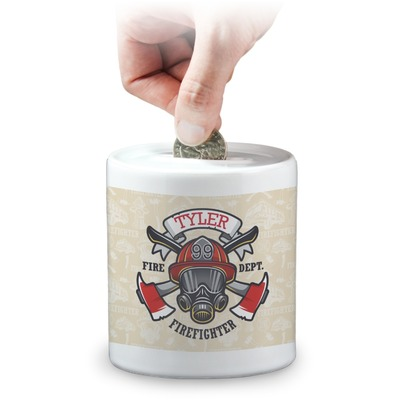 Firefighter Coin Bank (Personalized)