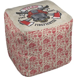 Firefighter Cube Pouf Ottoman (Personalized)