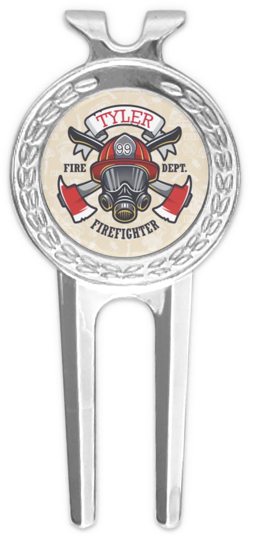 Firefighter Golf Divot Tool Ball Marker Personalized Youcustomizeit