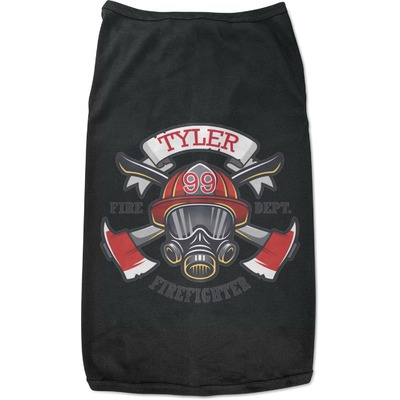Firefighter Black Pet Shirt (Personalized)