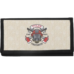 Firefighter Canvas Checkbook Cover (Personalized)