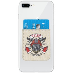 Firefighter Genuine Leather Adhesive Phone Wallet (Personalized)