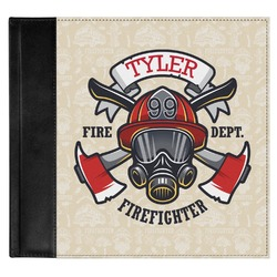 Firefighter Genuine Leather Baby Memory Book (Personalized)