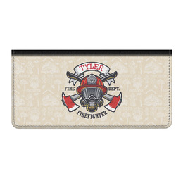 Firefighter Genuine Leather Checkbook Cover (Personalized)