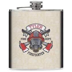 Firefighter Genuine Leather Flask (Personalized)