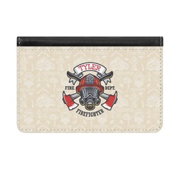Firefighter Genuine Leather ID & Card Wallet - Slim Style (Personalized)
