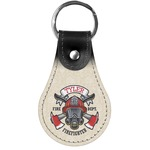 Firefighter Genuine Leather  Keychain (Personalized)