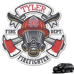 Firefighter Graphic Car Decal (Personalized)