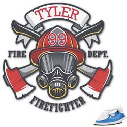Firefighter Graphic Iron On Transfer (Personalized)