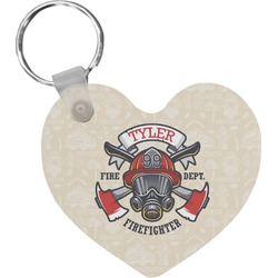 Firefighter Heart Keychain (Personalized)