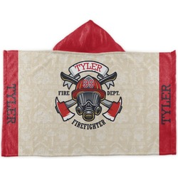 Firefighter Kids Hooded Towel (Personalized)