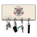 Firefighter Key Hanger w/ 4 Hooks (Personalized)