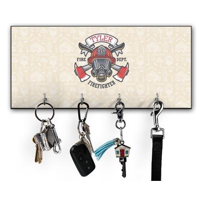 Firefighter Key Hanger w/ 4 Hooks (Personalized)