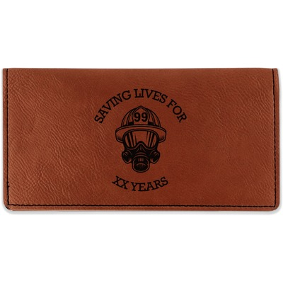 Firefighter Leatherette Checkbook Holder (Personalized)