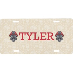 Firefighter Front License Plate (Personalized)