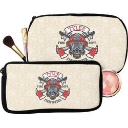 Firefighter Makeup / Cosmetic Bag (Personalized)
