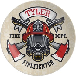 """Firefighter Melamine Plate - 10"""" (Personalized)"""