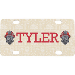 Firefighter Mini / Bicycle License Plate (Personalized)