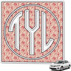 Firefighter Monogram Car Decal (Personalized)