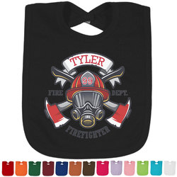 Firefighter Baby Bib - 14 Bib Colors (Personalized)