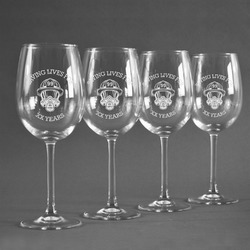 Firefighter Wine Glasses (Set of 4) (Personalized)