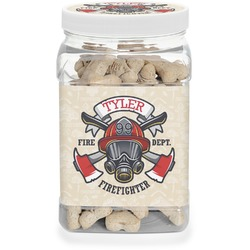 Firefighter Dog Treat Jar (Personalized)