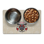 Firefighter Pet Bowl Mat (Personalized)
