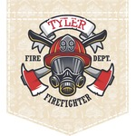 Firefighter Iron On Faux Pocket (Personalized)