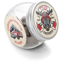 Firefighter Puppy Treat Jar (Personalized)