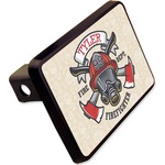 "Firefighter Rectangular Trailer Hitch Cover - 2"" (Personalized)"