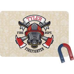 Firefighter Rectangular Fridge Magnet (Personalized)