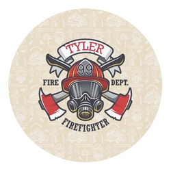 Firefighter Round Decal - Medium (Personalized)