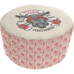 Firefighter Round Pouf Ottoman (Personalized)
