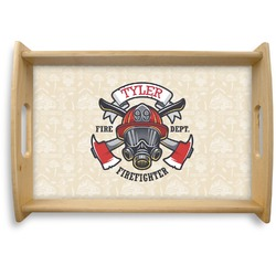 Firefighter Natural Wooden Tray (Personalized)
