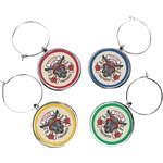 Firefighter Wine Charms (Set of 4) (Personalized)