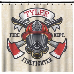 Firefighter Shower Curtain (Personalized)