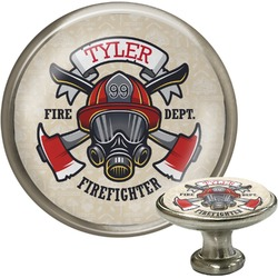 Firefighter Cabinet Knob (Silver) (Personalized)