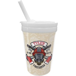 Firefighter Sippy Cup with Straw (Personalized)