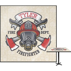 Firefighter Square Table Top (Personalized)