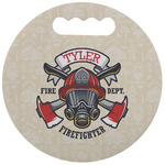 Firefighter Stadium Cushion (Round) (Personalized)