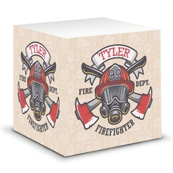 Firefighter Sticky Note Cube (Personalized)