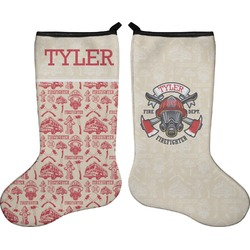 Firefighter Christmas Stocking.Personalized Neoprene Christmas Stockings Double Sided