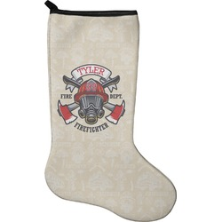 Firefighter Christmas Stocking - Neoprene (Personalized)